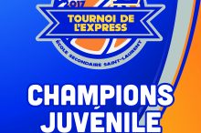 Bannière et logo pour tournoi de basketball de l'Express de Saint-Laurent